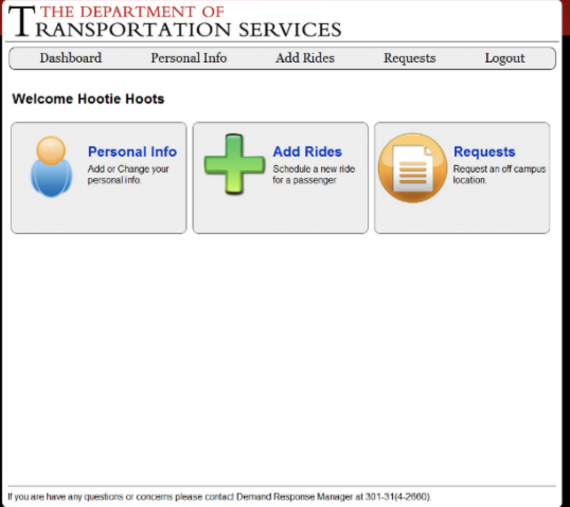 paratransit dashboard